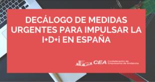 decalogo de medidas para impulsar la I+D+i en España